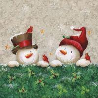 Cocktail napkins SNOWMEN FRIENDS