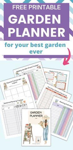 Flower Garden Planner, Free Garden Planner, Garden Organization, Organizing, Templates Printable Free, Free Printables, Gardening Calendar, Free Notebook, Garden Journal