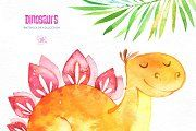 Dinosaurs. Watercolor collection. - Illustrations - 6