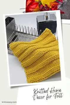 Knit So Easy quick & easy patterns = effortlessly cozy knitting. #KnittingPatterns #FallCrafts #Handknits Fall Home Decor, Autumn Home, Knitting Projects, Knitting Patterns, Knitting Ideas, Fall Knitting, Fall Crafts, Thanksgiving, Easy Patterns