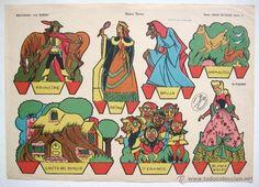 LAMINA RECORTABLE SERIE GRAN ILUSION Nº 2 BLANCANIEVES EDICIONES LA TIJERA AÑO 1960 - Foto 1