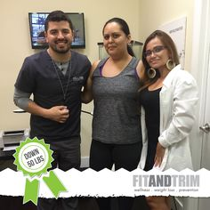 This is why we do what we do - Jessica Chano, one of our amazing patients reached her very first wellness and weight loss goal this past Saturday - DOWN 50 Pounds. With tears of happiness in her eyes she realized that it was possible and that all her effort was worth it. Her Program Manager Maria,  Fit and Trim's CEO & Founder Rick and the whole FT Family is more than proud and happy to be part of this amazing transformation.   FREE CONSULTATION: 954.200.7744