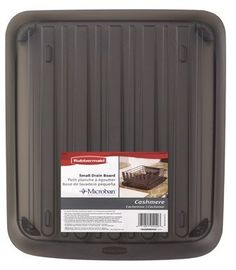 Rubbermaid Inc Sm Brn Drain Board 1180-Ma-Cshm Drainer Trays Kitchen by Rubbermaid. $10.75. Rubbermaid #1180-MA-CSHM SM Brown Drain Board. RUBBERMAID INC. 14.2 x 14.8 Enhanced, Small, Cashmere, Soft Brown, Drain Board, Antimicrobial Product Protection With Microban Treated To Inhibit Growth Of Stain & Odor Causing Bacteria, Increased Angle So Excess Water Drains Easier, Can Be Used Alone To Dry Pots & Pans Or Use With 1G12 Drainer.. Save 17%!
