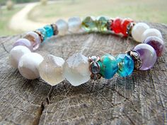 Bead Bracelet, Gemstone Bracelet, Glass Bead Bracelet, Agate Bracelet, Amethyst…