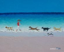 #Beach Paintings  by Jan Matson - 'The Chase'     -   http://vacationtravelogue.com Best Search Engine For Hotels-Flights Bookings   - http://wp.me/p291tj-8K
