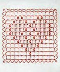 from Asahi original crochet heart pattern Motifs Granny Square, Crochet Motifs, Crochet Dishcloths, Granny Square Crochet Pattern, Crochet Diagram, Crochet Stitches Patterns, Crochet Chart, Crochet Squares, Crochet Basics