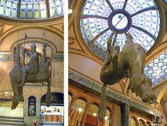 David Cerny's dead horse in Lucerna Palace, Prague
