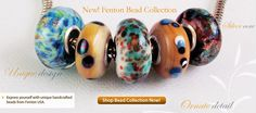 Made in USA handcrafted beads from Fenton. They have a website with other glassware etc. They have been making glassware for over 100 yrs.
