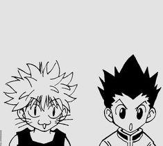 Hunter x Hunter Gon and Killua Hunter Anime, Hunter X Hunter, Manga Art, Anime Art, Anime Tattoos, Anime Stickers, Manga Covers, Anime Sketch, Animes Wallpapers