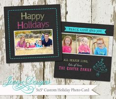 Chalkboard Holiday Card by Jeneze on Etsy, #holidaycard , #christmascard