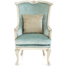 Massoud Silver Damask Chair ($2,799) ❤ liked on Polyvore featuring home, furniture, chairs, accent chairs, nail head chair, handmade furniture, nailhead trim chair, damask accent chair and handcrafted furniture