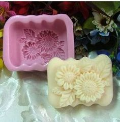 Sunflower Rose Silicone Handmade Soap Molds Soap Mould | eBay