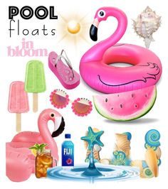 """#Pool Floats.."" by detroitgurlxx ❤ liked on Polyvore featuring art and poolfloats"