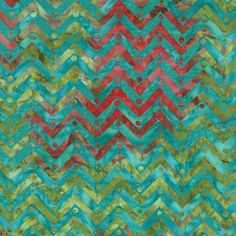One For You and One for Me Batik Blue Chevron