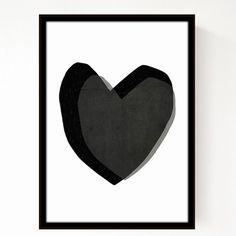 Seventy Tree Black Heart A3