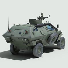 3d model turkish otokar cobra armored