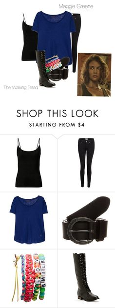 """""""Maggie Greene- The Walking Dead"""" by twilight-vs-hunger-games-fan ❤ liked on Polyvore featuring Paige Denim, MANGO, Replay, Wet Seal, women's clothing, women, female, woman, misses and juniors"""