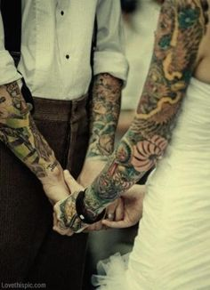 Tattoo Wedding Couple Pictures, Photos, and Images for Facebook, Tumblr, Pinterest, and Twitter