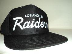 c979953fab8 La raiders snapback hat retro script los angeles oakland la cap l a