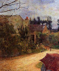 Pissarro's Garden, Pontoise by Paul Gauguin | Painting | Gauguin Gallery