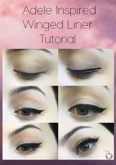 adele inspired winged liner tutorial #wingedlinertutorial #wingedlinertricks