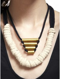 PLUME Pyramid Necklace and Sailor Rope Neckalce- For purchase on Refinery29shops. Both under 100 dollars!