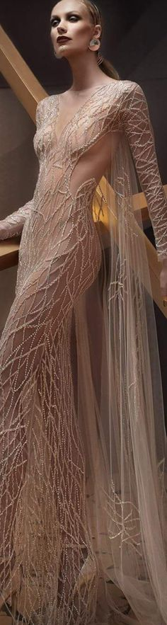 Veins and vines of beauty Love Fashion, High Fashion, Wedding Attire, Wedding Dresses, Evening Dresses, Formal Dresses, Glamour, Designer Gowns, Looks Style