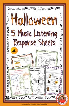 Music Listening Response sheets for Halloween! ♫ CLICK through to preview or save for later! ♫