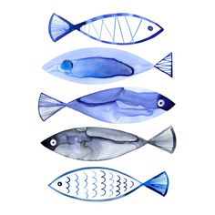 You'll love the Retro Watercolour Fish Wall Mural at Wayfair - Great Deals on all Décor & Pillows products with Free Shipping on most stuff, even the big stuff.