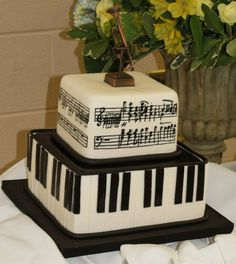Black fondant never looks tasty, but it's nice to know that there's someone out there who can create decent music notation on cake.