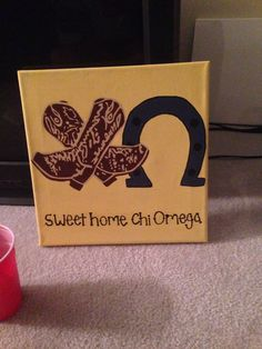 Sweet Home Chi Omega Canvas