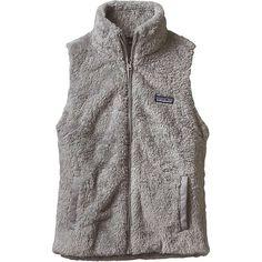 Patagonia Women's Los Gatos Vest ($99) ❤ liked on Polyvore featuring outerwear, vests, drifter grey, microfleece vest, grey waistcoat, polar fleece vest, pocket vest and long vest