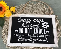 Svg Amp Dxf Design Crazy Dogs Live Here Do Not Knock They