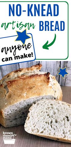 New to bread making? This is the easiest homemade bread recipe ever. 4 simple ingredients and no kneading--bake in a dutch oven or loaf pan. Vegan Recipes Easy, Baby Food Recipes, Bread Recipes, Muffin Recipes, Drink Recipes, Cooking Recipes, No Knead Bread, Bread Making, Recipe From Scratch