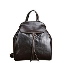 New Genuine Leather Women Backpacks Casual Travel Rucksack Vintage School Bags for Ladies Small Backpack Mujer Mochila Mode Vintage, Vintage Bags, Cowhide Leather, Cow Leather, Leather Bag, Leather Cuffs, Real Leather, Girls Rucksack, Small Backpack