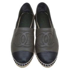 Chanel, leather espadrilles