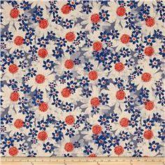 Cotton + Steel Trinket Canvas Daisy Fields Blue