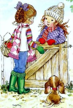 sarah kay - Page 2 Sarah Key, Mary May, Heart Illustration, Holly Hobbie, Australian Artists, Cute Images, Vintage Pictures, Comic Pictures, Vintage Children