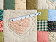 Green and Multicolor Hearts and Nine Patch Quilt Photo 5