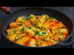 Mai bune decat sarmalele! Am descoperit aceasta reteta si o prepar la fiece masa de sarbatoare - YouTube Romanian Food, Pasta, Food Videos, Curry, Cooking, Ethnic Recipes, Ground Meat, Appetizer Recipes, Festivus