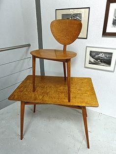 Bill Max 1949 three-legged chairs version of Ulm stamped M / B of Max Bill (col. Max Bill, Design Furniture, Vintage Furniture, Vintage Design, Contemporary Design, Chairs, Gallery, Modern, Table