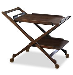 Father's day gift ideas.  Cooper Hollywood Regency Modern Rolling Bar Cart | Kathy Kuo Home