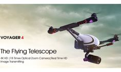 The Flying Telescope 4K HD  |18 Times Optical Zoom Camera|Real Time HD Image Transmitting eal-time HD image transmission 4K HD video recordingAdopting the 5.8Ghz HD digital image transmission technology, characterizing as faster  transferring response, lower latency and stronger anti-interference ability