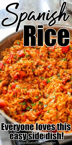 Mexican Rice Recipes, Rice Recipes For Dinner, Easy Rice Recipes, Mexican Dishes, Side Dish Recipes, Beef Recipes, Vegetarian Recipes, Cooking Recipes, Spanish Food Recipes