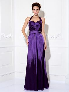 Formal Evening / Prom / Military Ball Dress - Grape Plus Sizes / Petite Sheath/Column Halter Floor-length Charmeuse - USD $79.99 ! HOT Product! A hot product at an incredible low price is now on sale! Come check it out along with other items like this. Get great discounts, earn Rewards and much more each time you shop with us!