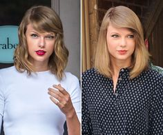 The ultimate battle -- Taylor Swift's hair -- wavy or straight?