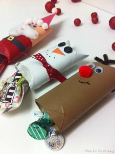 Christmas Character Candy Pouches with Cottonelle Triple Roll