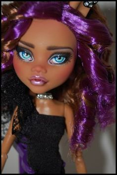 "OOAK Art Doll Monster High Repaint and Custom ""Adriana"" by Alex | eBay"