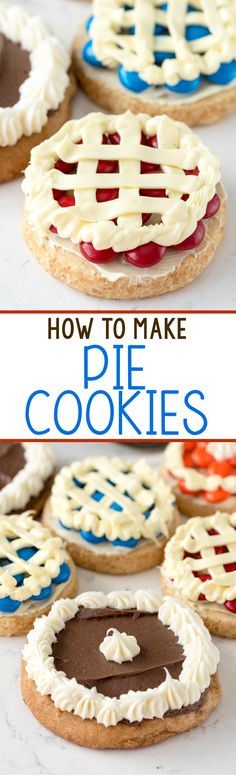How to make Pie Cookies - this easy and fun cookie recipe makes your favorite cookies look like pie with just a few ingredients!
