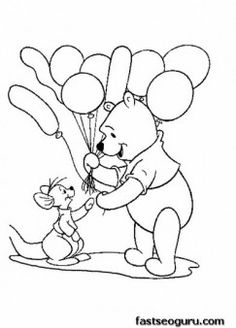 disney babies coloring pages pooh and tigger disney babies ... - Pooh Bear Coloring Pages Birthday